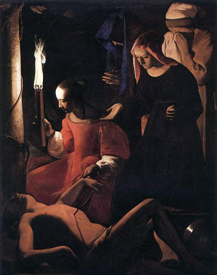 Georges de La Tour. Saint Sebastian