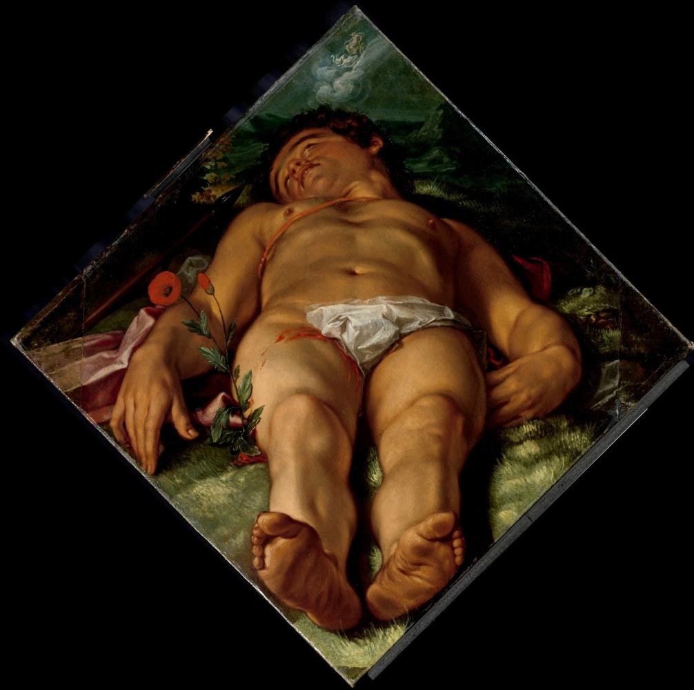 Хендрик Гольциус. Умирающий Адонис.  1609