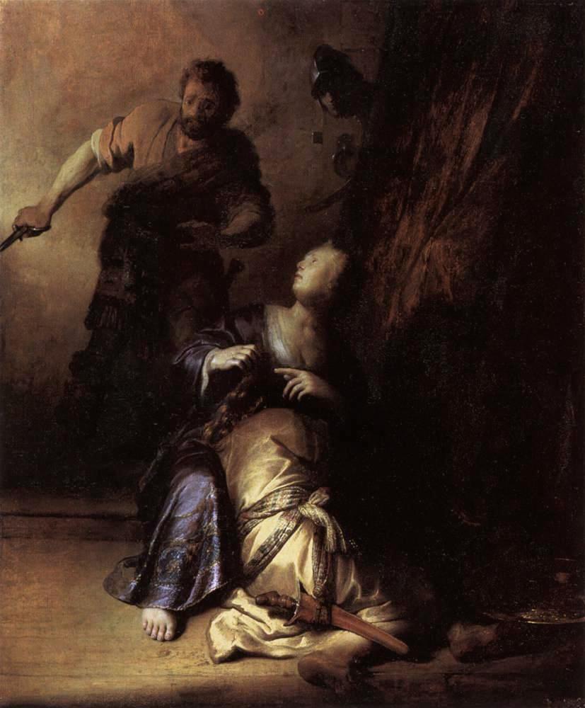 Rembrandt Harmenszoon van Rijn. Samson and Delilah