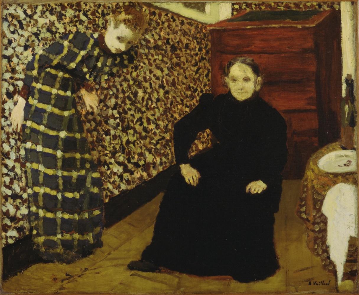 Jean Edouard Vuillard. Interior, mother and sister of the artist