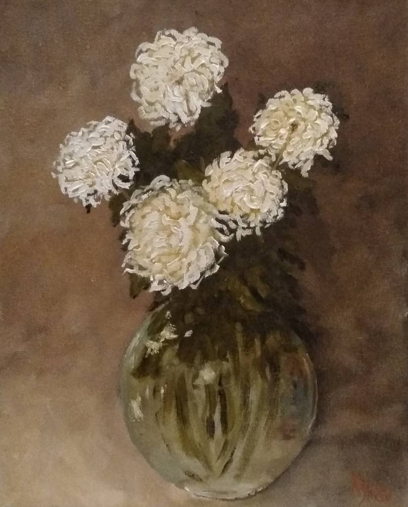 Sergei Nikolayevich Khodorenko-Zatonsky. Chrysanthemums in a glass vase