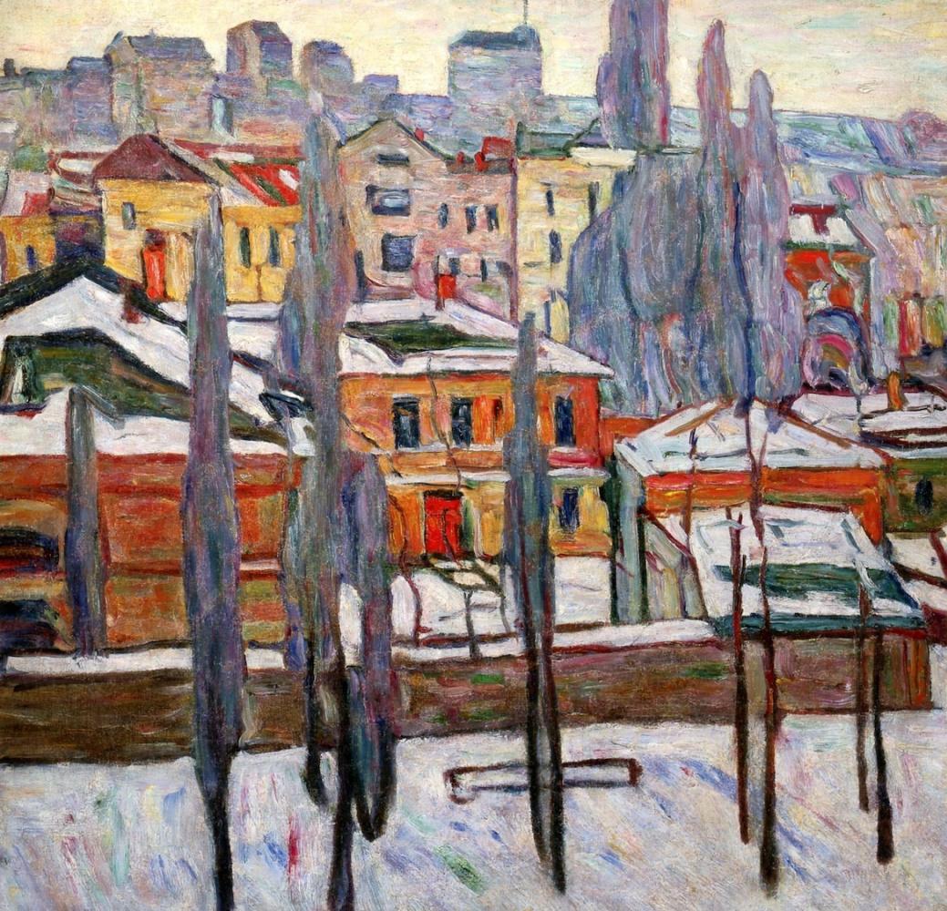 Abram Anshelevich Manevich. Snowy Pskov