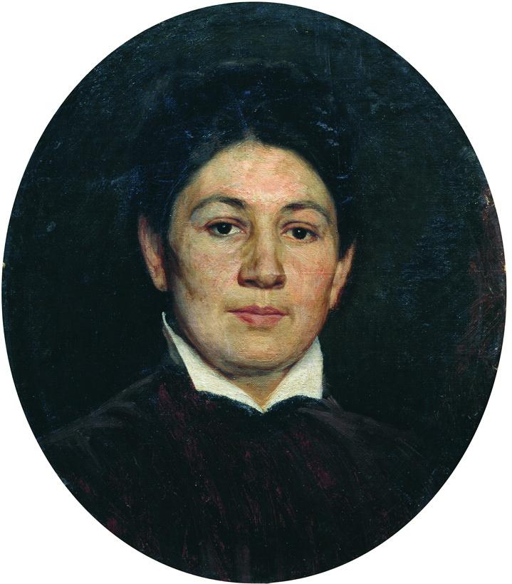 Nikolay Aleksandrovich Yaroshenko. Portrait of Maria Pavlovna Yaroshenko, the wife of the artist. 1880s