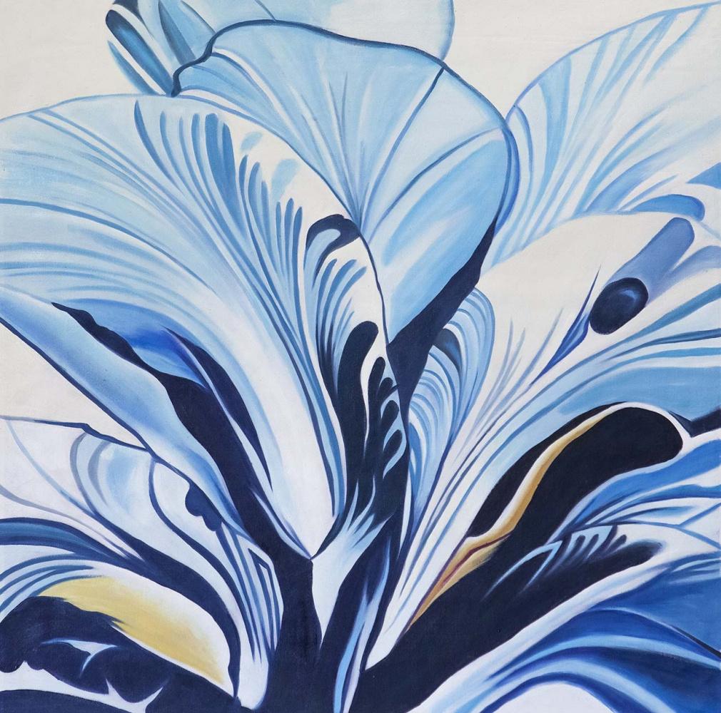 (no name). Blue flowers
