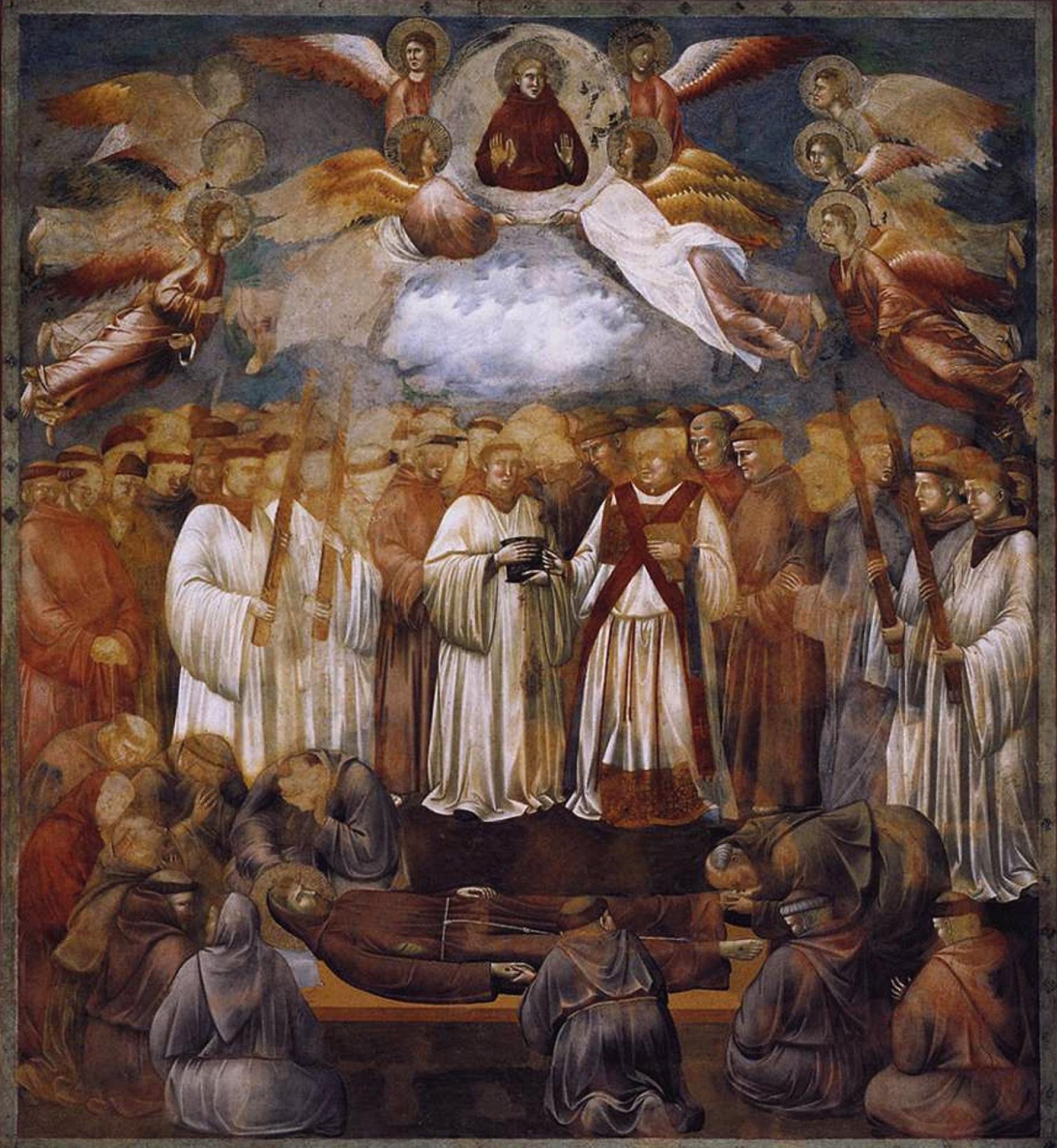 Джотто ди Бондоне. Смерть и вознесение Святого Франциска. Легенда о святом Франциске