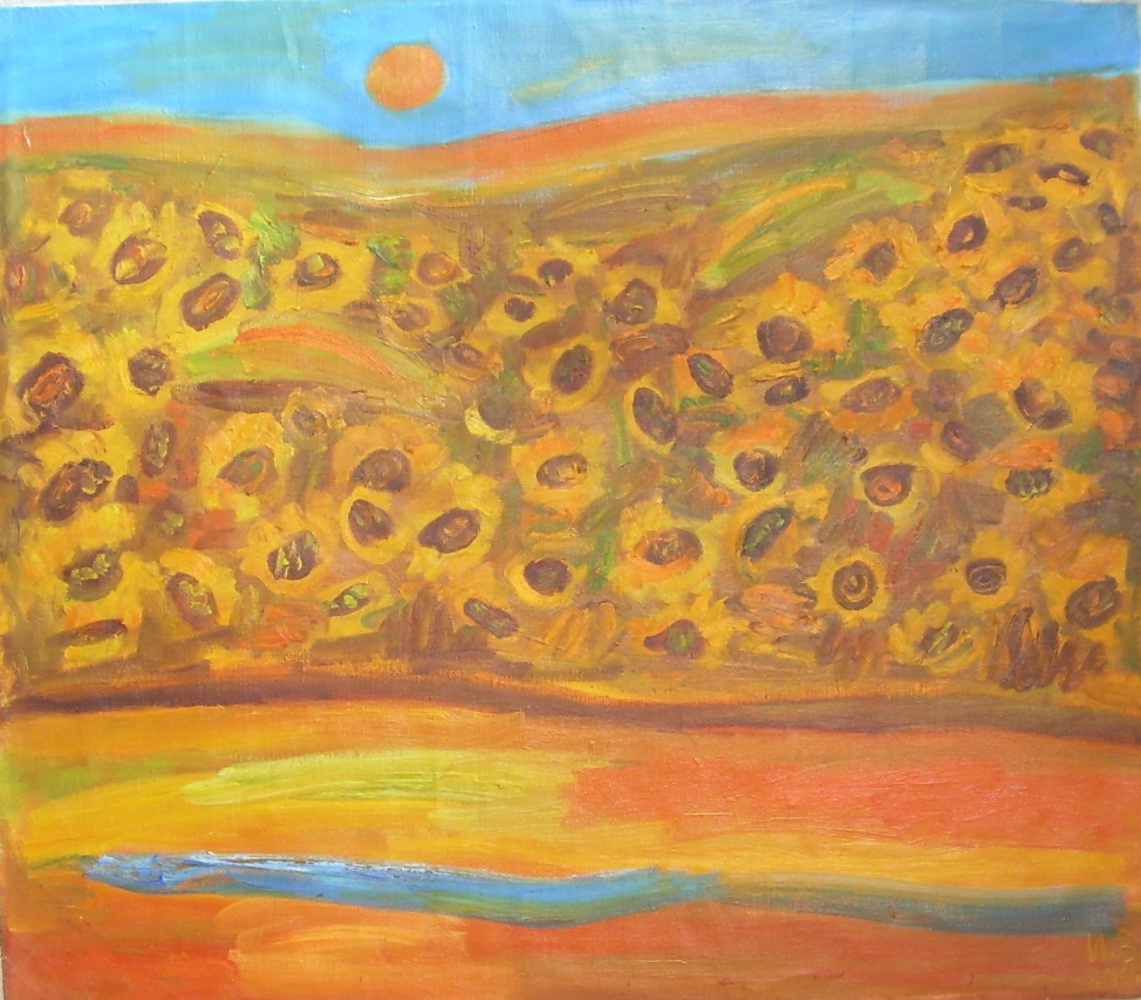 Irina Valentinovna Verpeta. Sunflowers