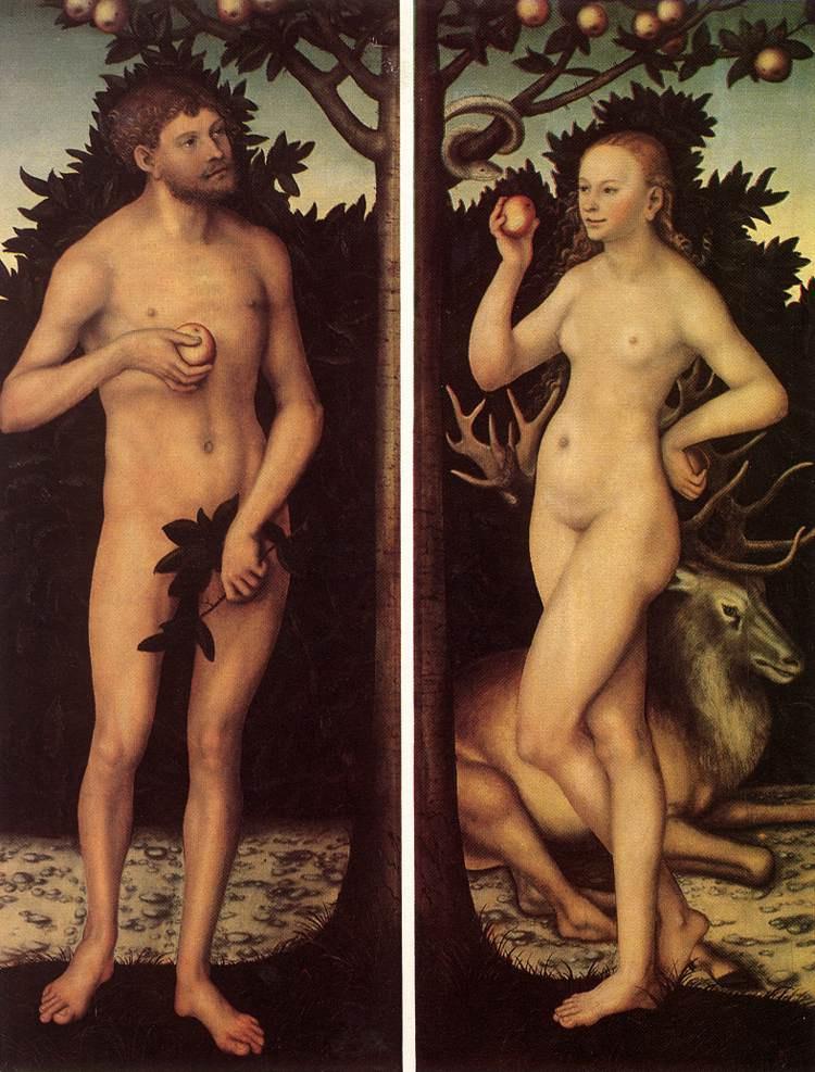 Лукас Кранах Старший. Адам и Ева 2