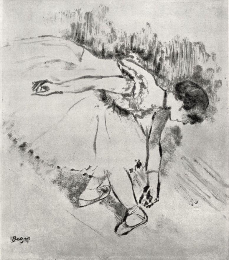 Эдгар Дега. Танцовщица в четвертой позиции