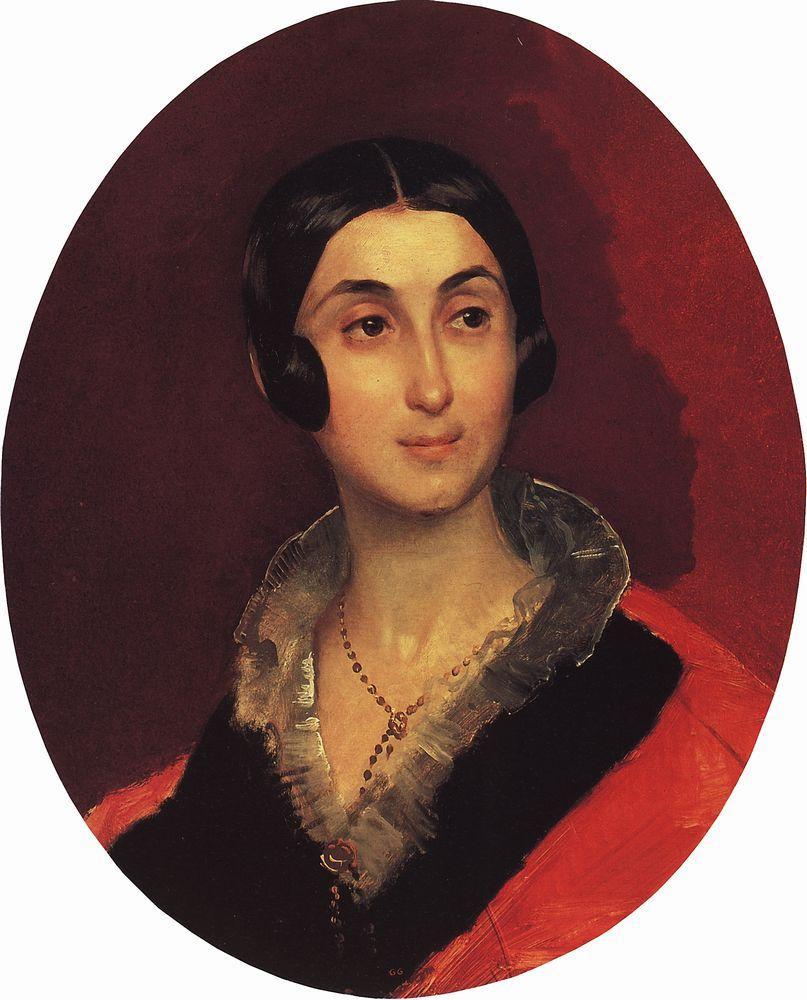 Карл Павлович Брюллов. Портрет жены художника