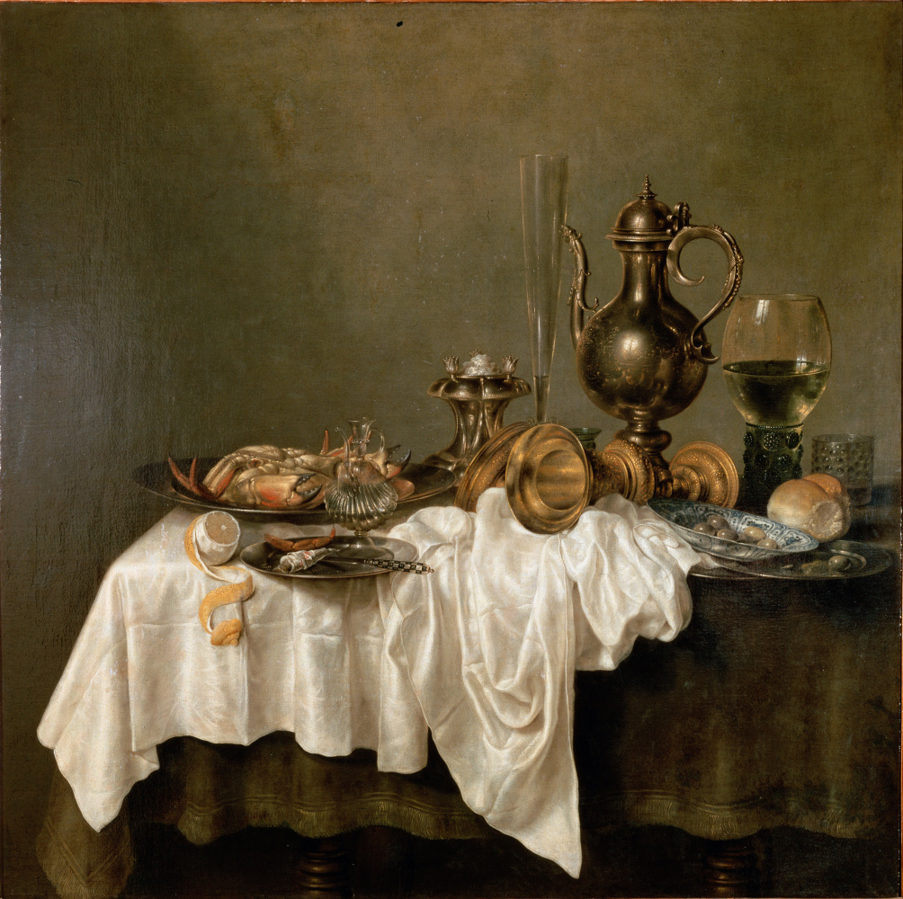 Willem Claesz Heda. Breakfast with a lobster