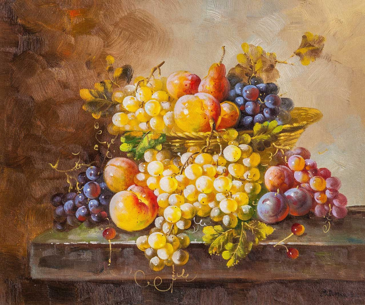 Maria Potapova. Still life with fruit in the Baroque style N4