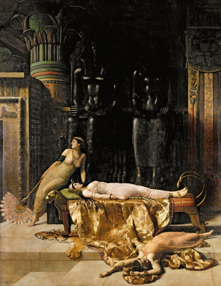 John Collier. Cleopatra's death. 1890
