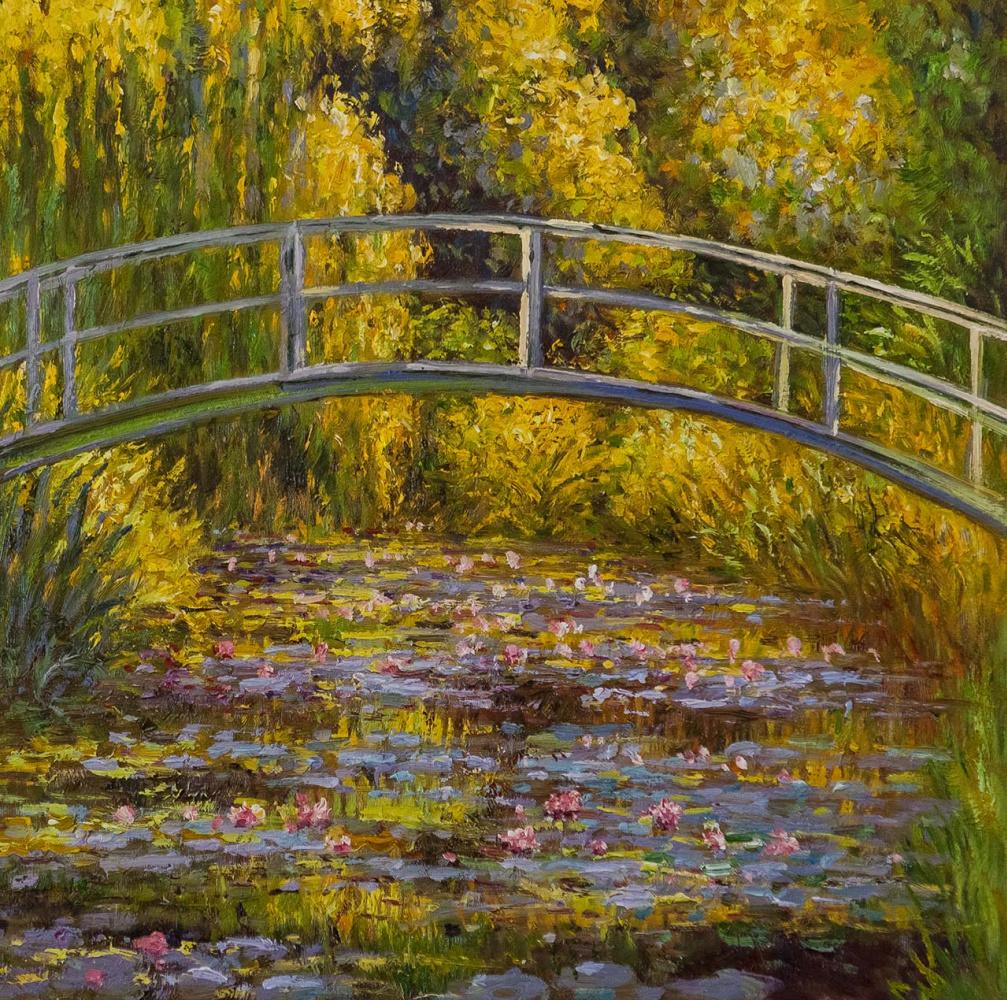 "Савелий Камский. Копия картины ""Японский мостик, 1899"" (The Japanese Bridge, 1899)"