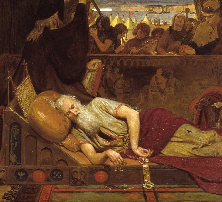 Ford Madox Brown. King Lear and Cordelia. Fragment. The Sleeping Lear