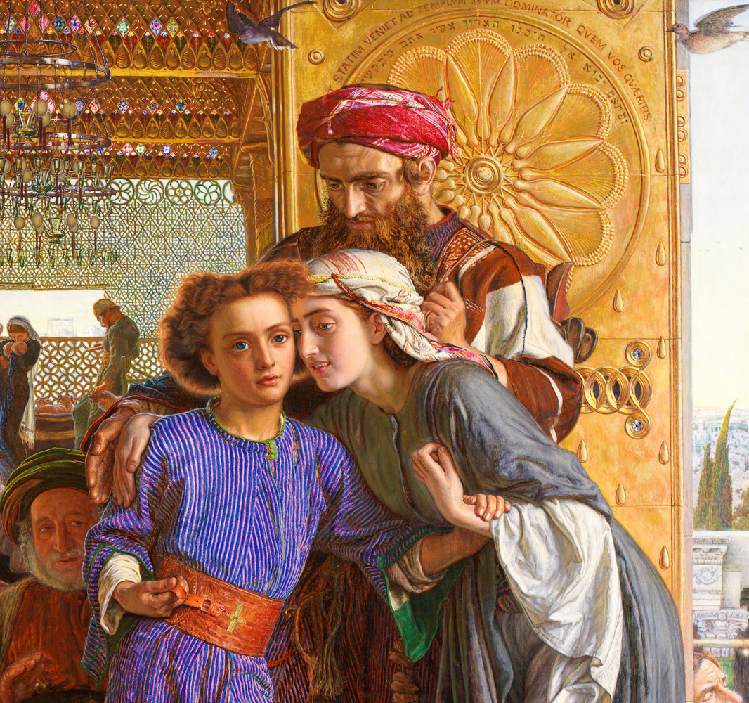 Уильям Холман Хант. Нахождение Спасителя во храме. Фрагмент VI