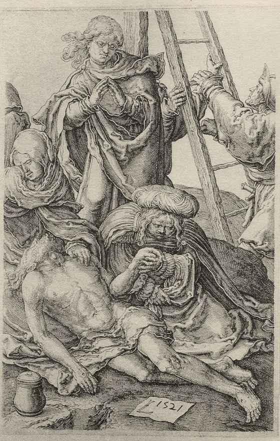 Лукас ван Лейден (Лука Лейденский). Снятие с креста