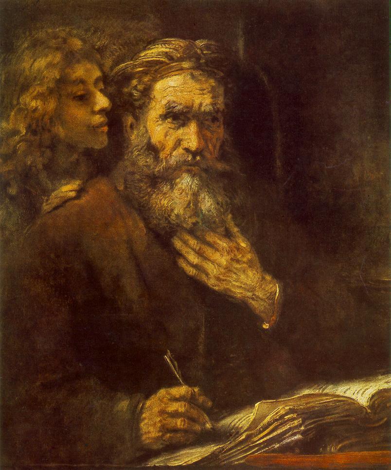 Рембрандт Ван Рейн. Евангелист Матфей и ангел