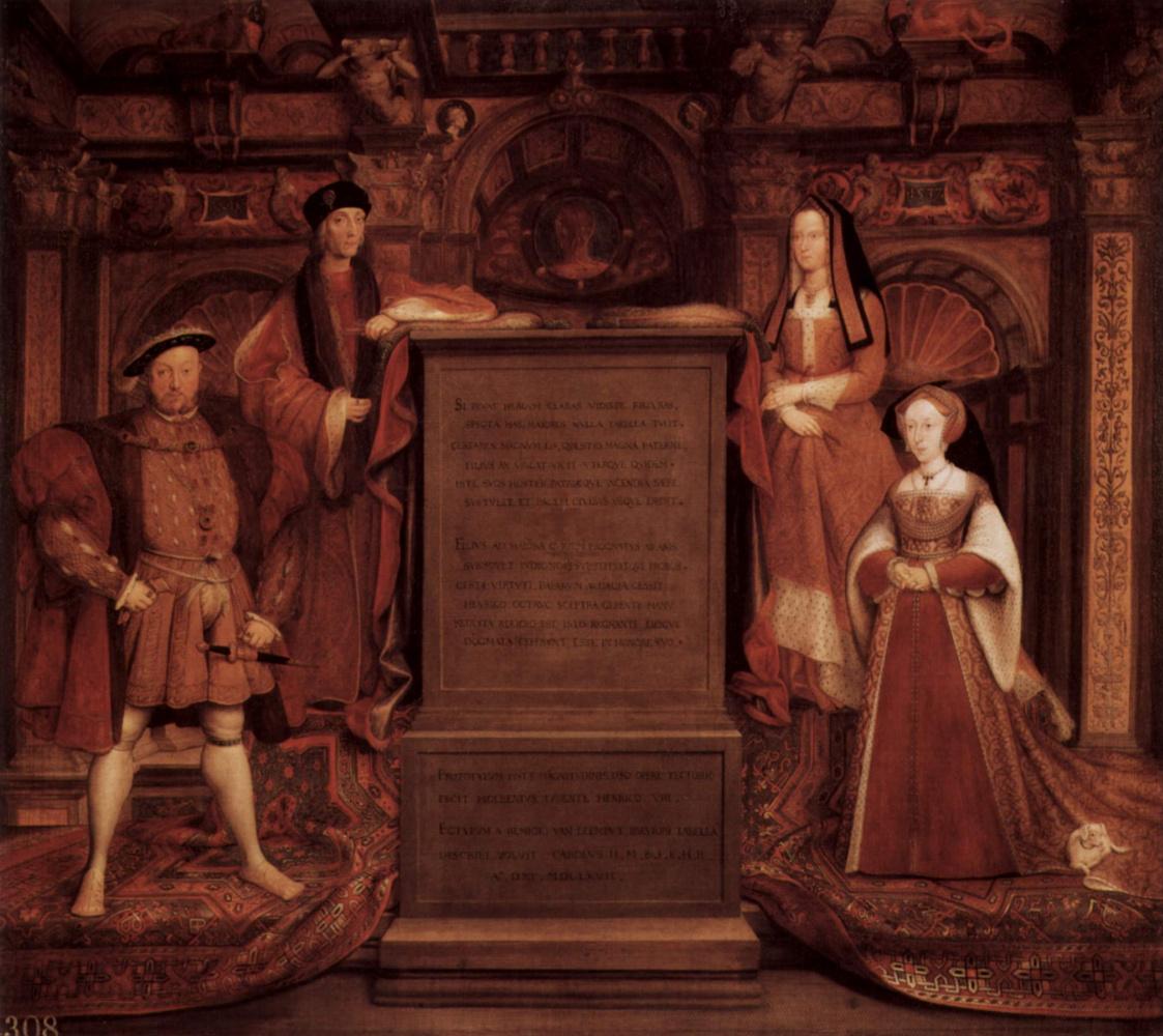 Ремигиус ван Лемпут. Генрих VII, Елизавета Йоркская, Генрих VIII и Джейн Сеймур