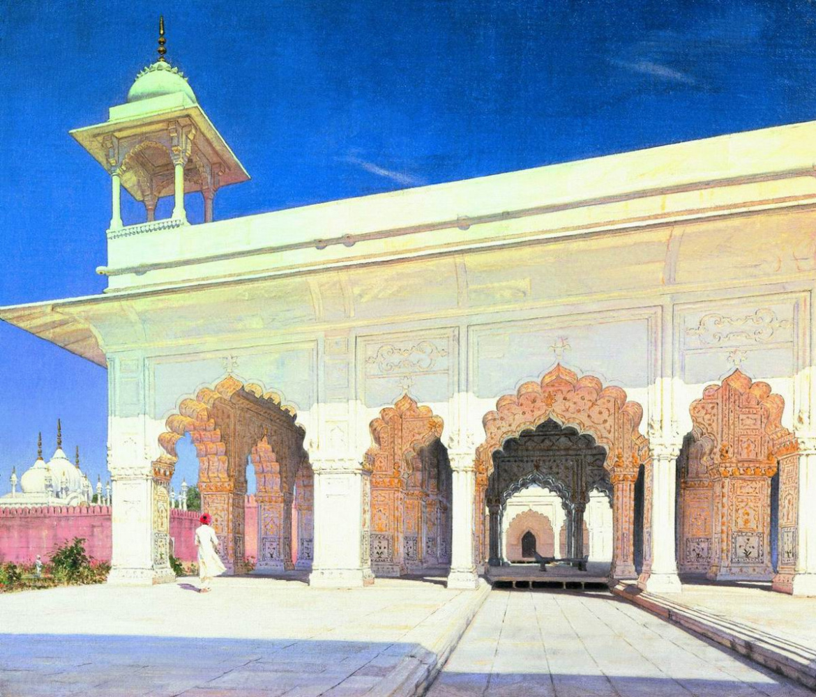 Vasily Vereshchagin. The throne room of the Great Mughal Shah Jahan and Awrang-Zeb Forte in Delhi