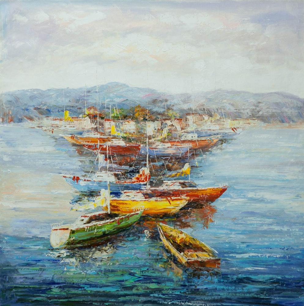 (no name). Mediterranean. Sailboats and boats