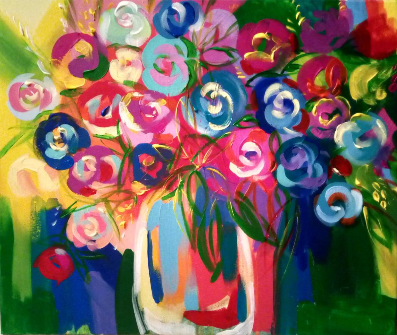 "Olesya Mikhailovna Nikolina. ""Bouquet of roses"""