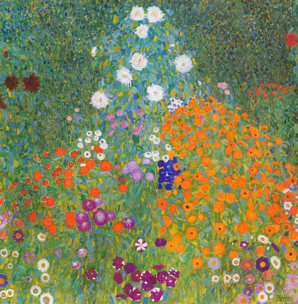 Gustav Klimt. Blooming garden
