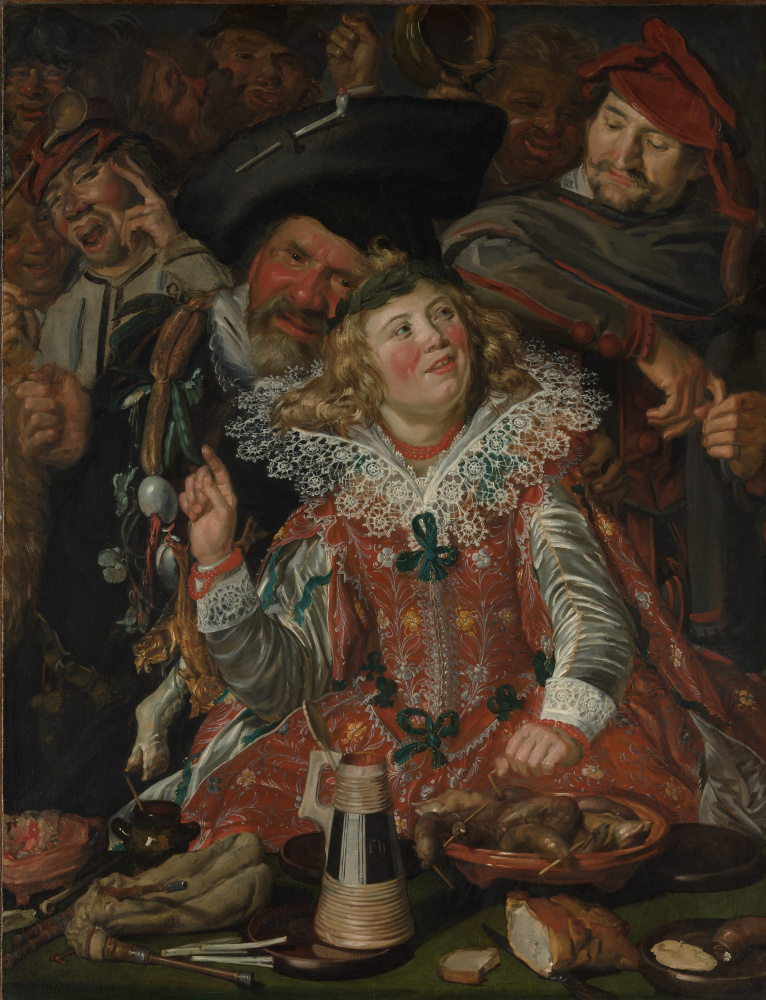 Frans Hals. Shrovetide Revellers (The Merry Company)