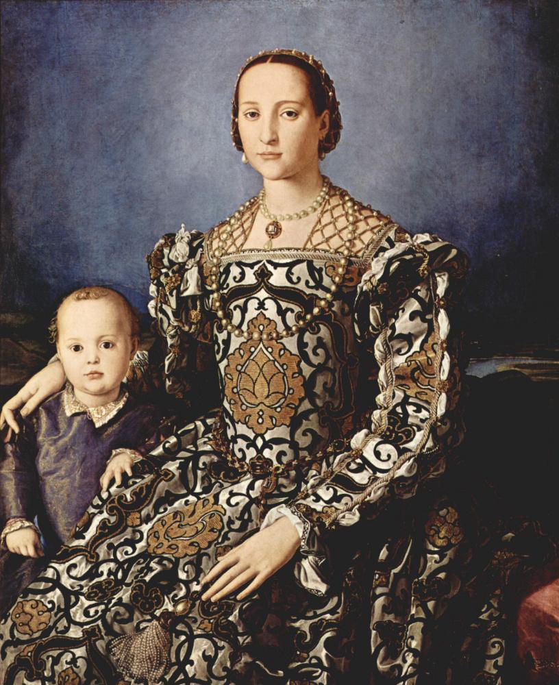Аньоло Бронзино. Портрет Элеоноры Толедской с сыном Джованни