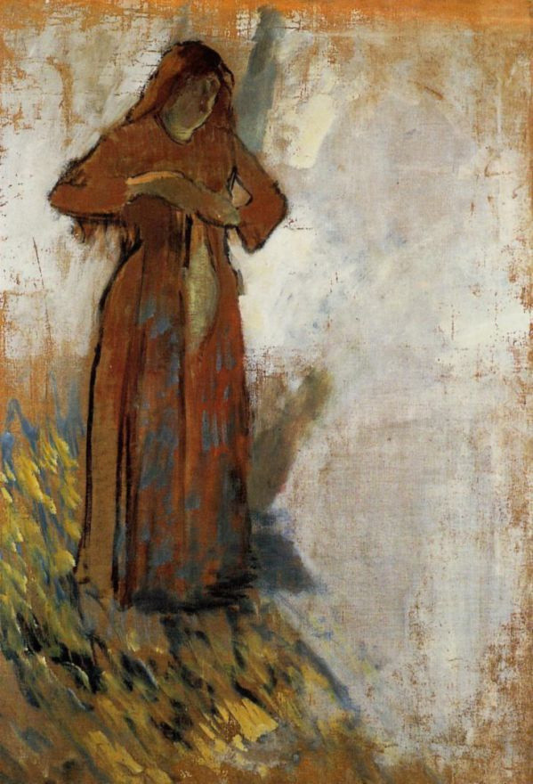 Эдгар Дега. Женщина с распущенными красными волосами