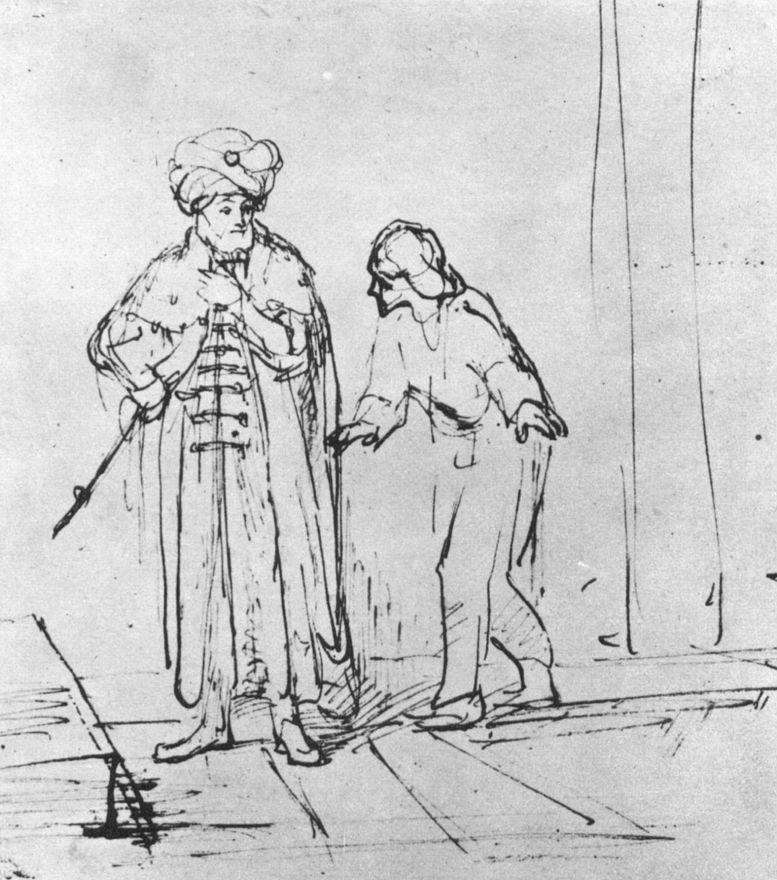 Рембрандт Харменс ван Рейн. Давид узнает, что Урия пренебрегает его приказаниями