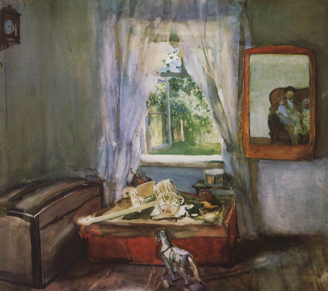 Константин Андреевич Сомов. В детской