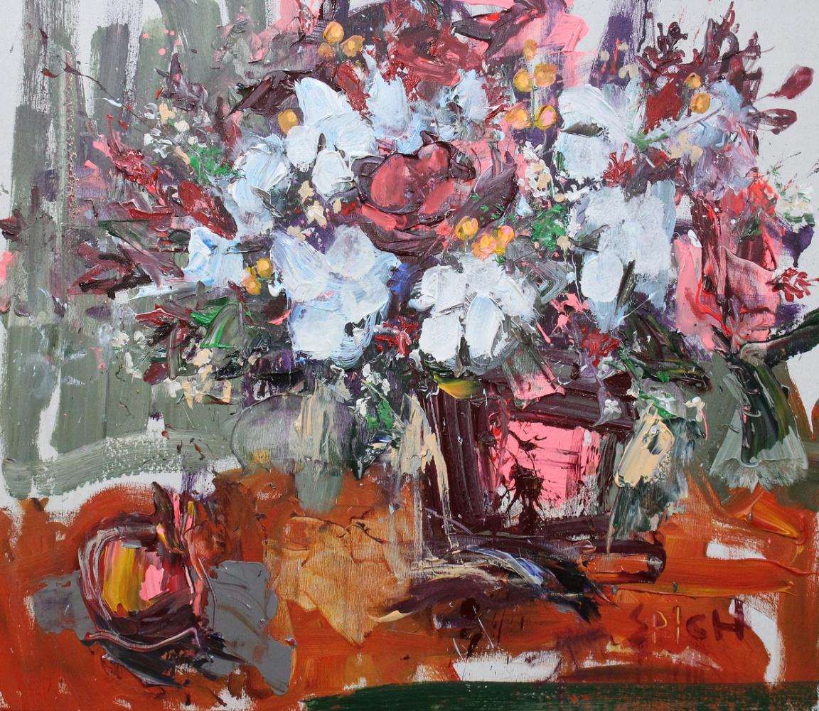 Ilya Pavlovich Spichenkov. Bouquet with cotton