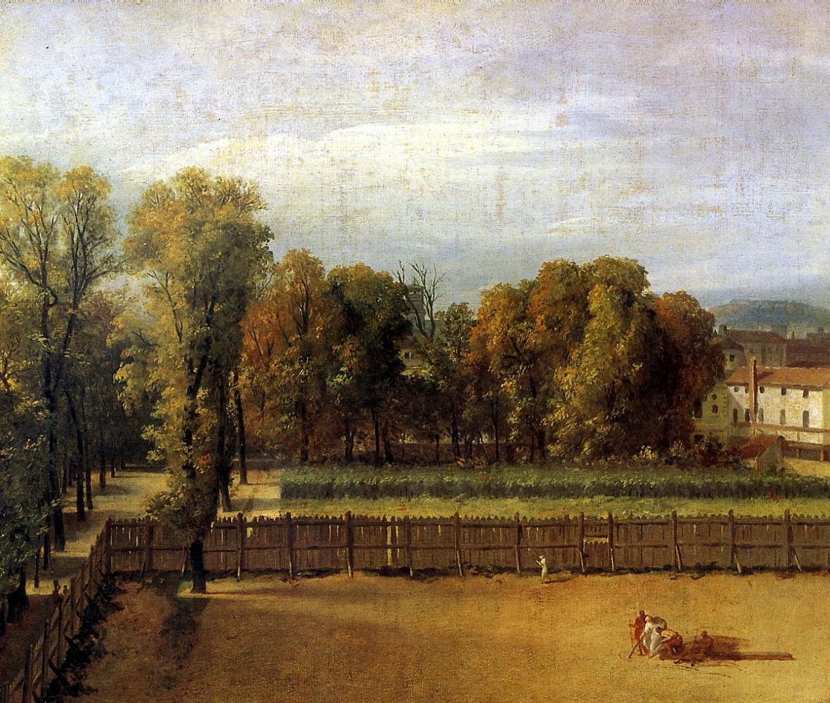 Жак-Луи Давид. Вид сада в Люксембургском дворце