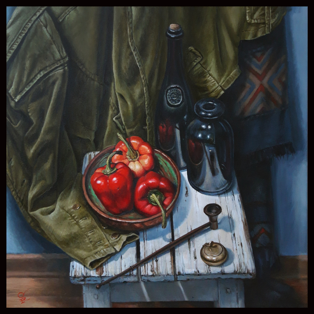 """Olga Ray. Still life """"Red Peppers"""""""