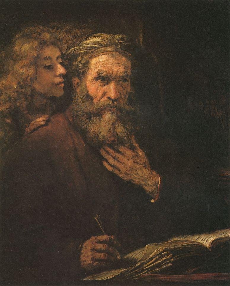 Рембрандт Ван Рейн. Евангелист Матвей и ангел