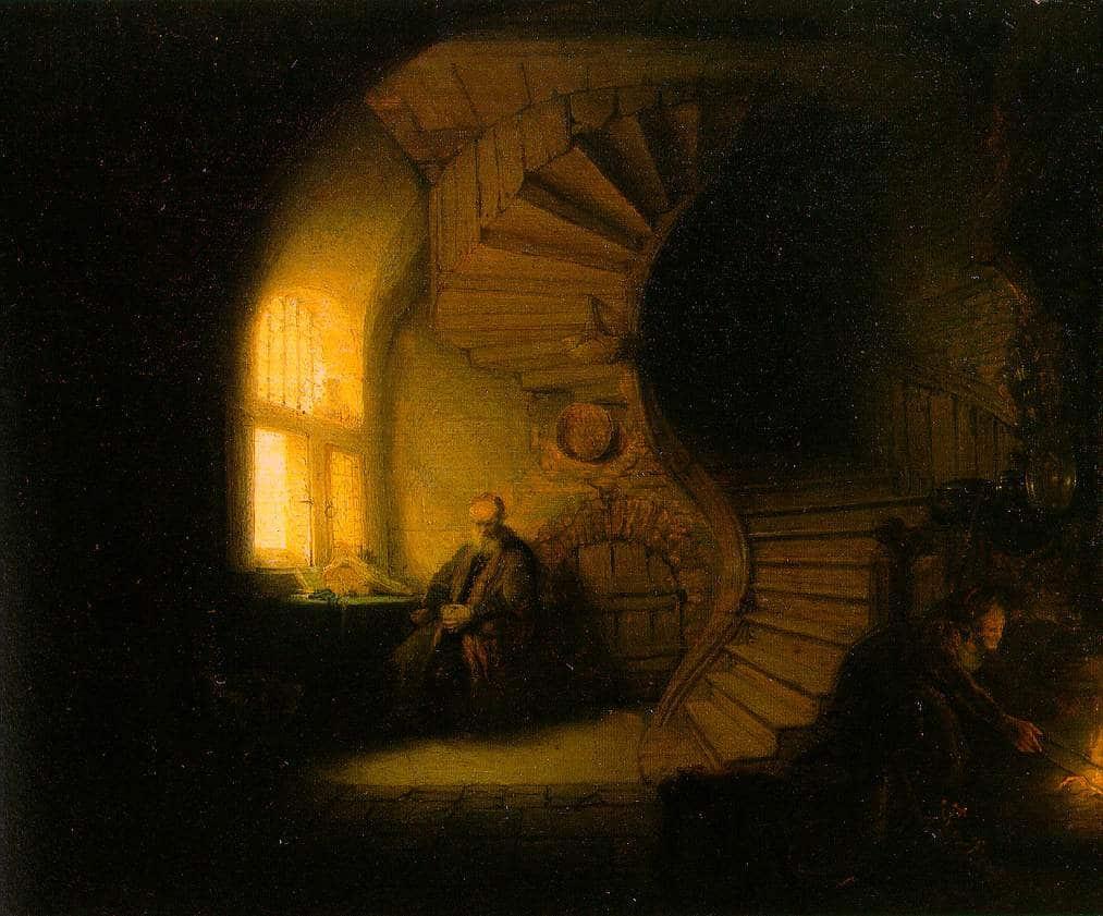 Рембрандт Харменс ван Рейн. Философ в раздумье