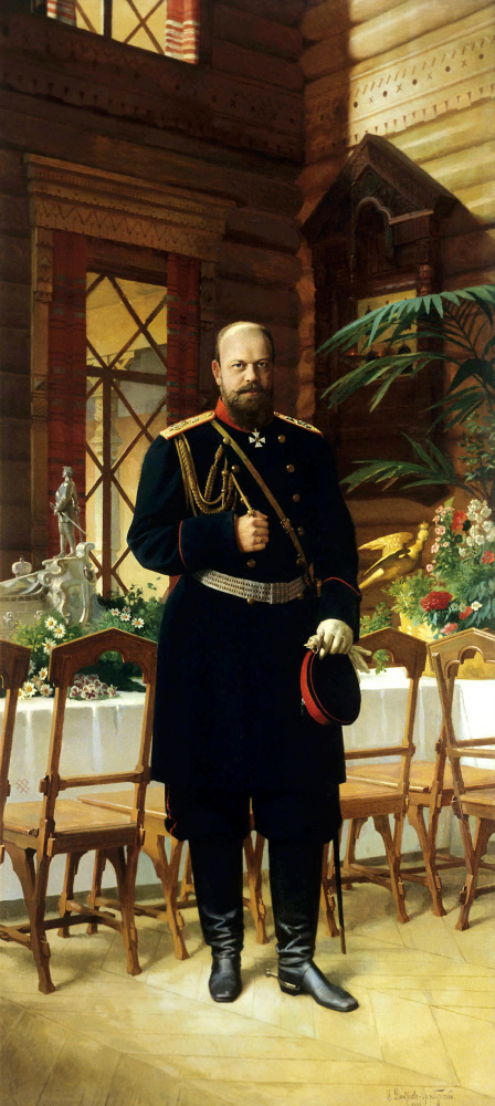 Nikolai Dmitrievich Dmitriev-Orenburg. Portrait of Emperor Alexander III