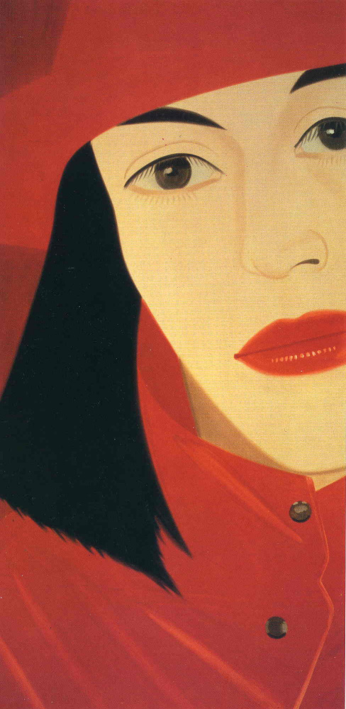Alex Katz. Ada in a red coat