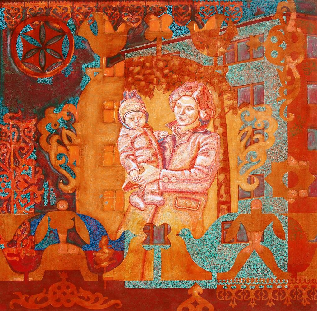 Алексей Петрович Акиндинов. Mama. Portrait of the artist's mother - Ekaterina Vasilievna Akindinova.