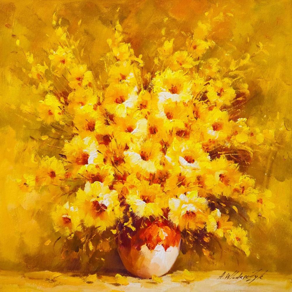 "Andrzej Vlodarczyk. Still life with oil ""Sunny bouquet"""