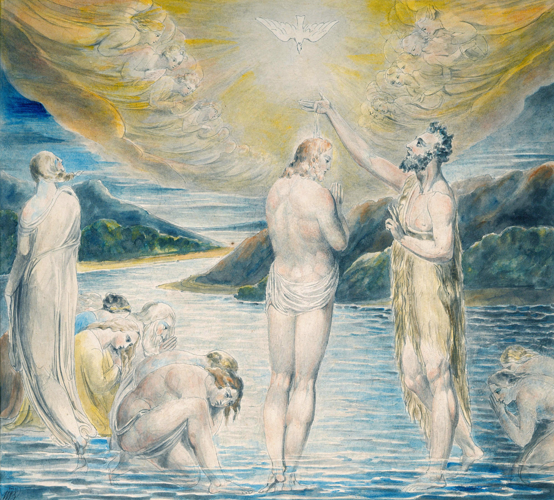 William Blake. Illustrations of the Bible. The Baptism Of Christ