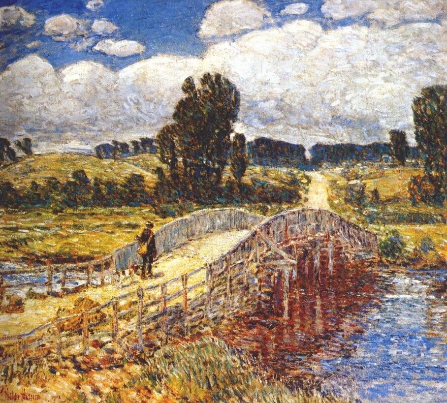 Childe Hassam. Bridge at old Lyme