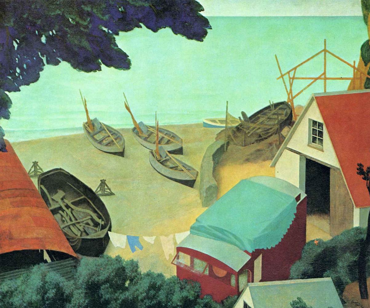 Эдмунд Дюлак. Лодки на песке