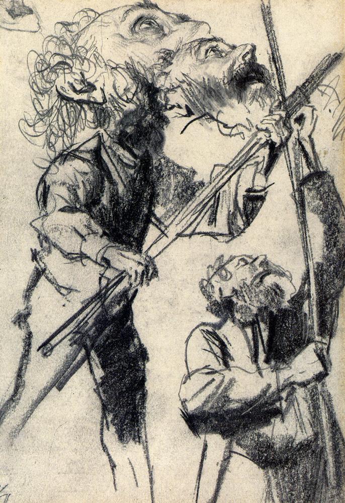 Адольф фон Менцель. Мужчина