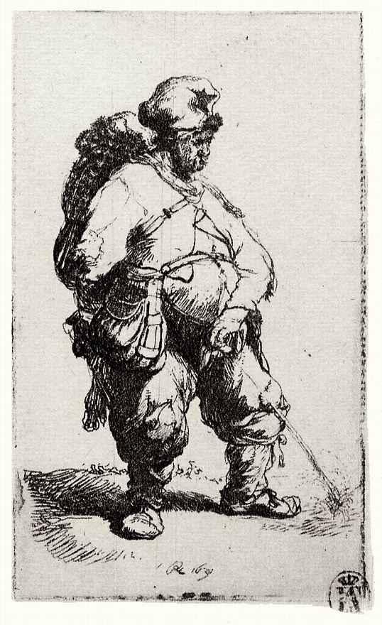 Рембрандт Ван Рейн. Мочащийся мужчина
