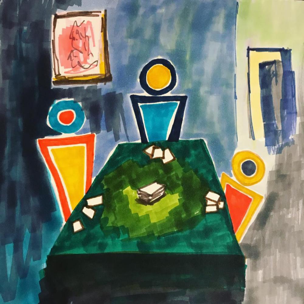 Daria Teplova. Poker game