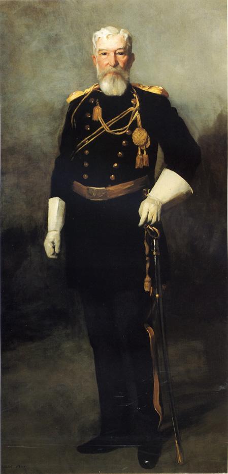 Роберт Генри. Портрет полковника Дэвида Перри, 9-й американской кавалерии
