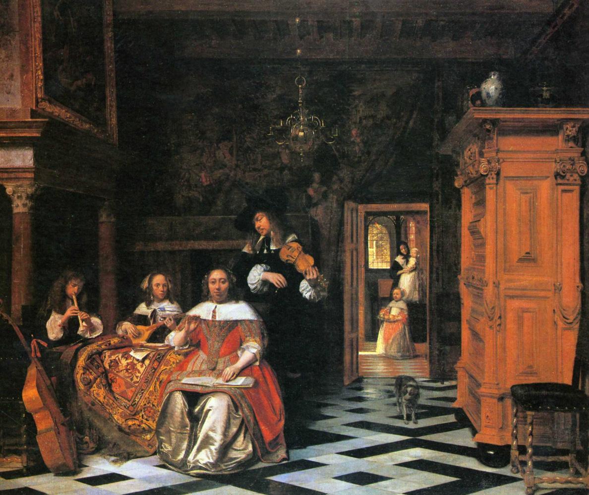 Питер де Хох. Музицирующее семейство