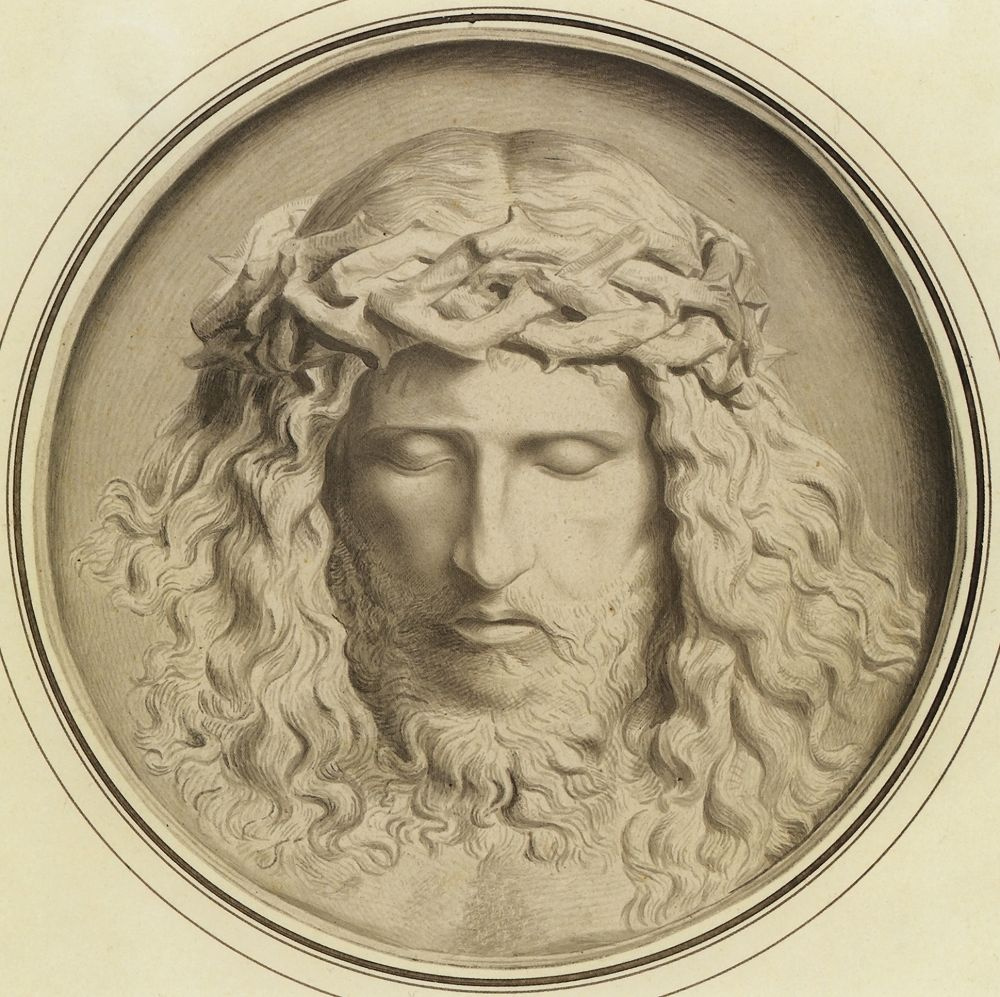 Fedor (Fidelio) Antonovich Bruni. Head of Christ crowned with thorns