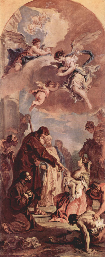 Себастьяно Риччи. Св. Франциск из Паолы воскрешает дитя, эскиз